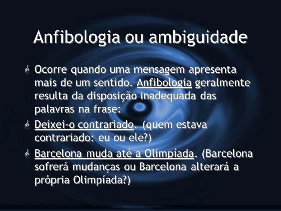 Anfibologia ou ambiguidade