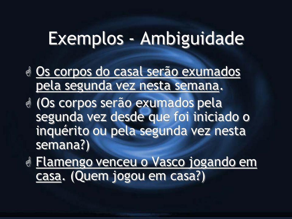 Exemplos - Ambiguidade