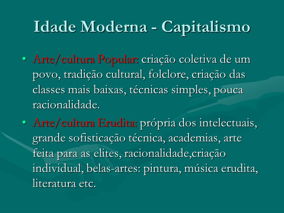Idade Moderna - Capitalismo