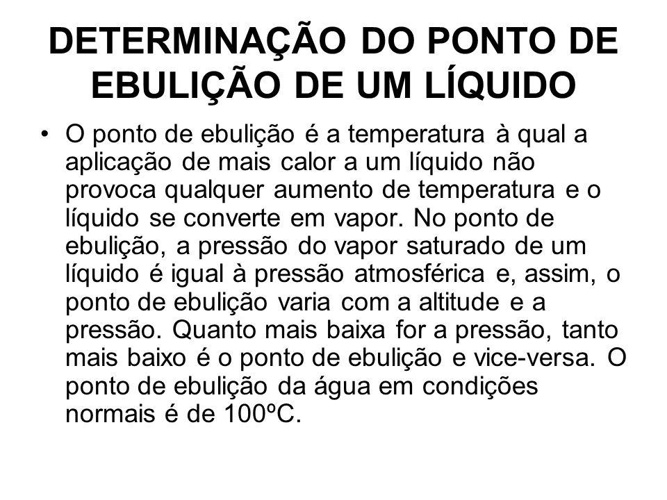 DETERMINAÇÃO DO PONTO DE EBULIÇÃO DE UM LÍQUIDO