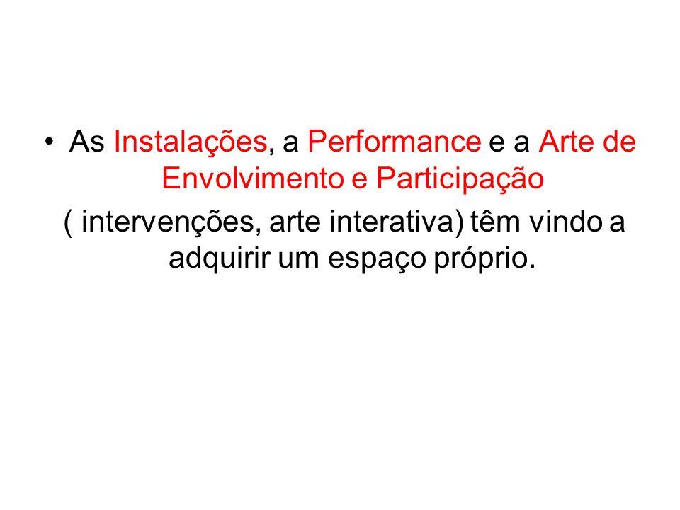 As Instalações, a Performance e a Arte de Envolvimento e Participação