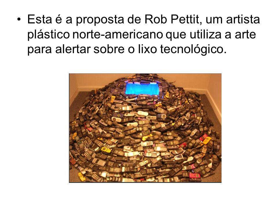 Esta é a proposta de Rob Pettit, um artista plástico norte-americano que utiliza a arte para alertar sobre o lixo tecnológico.