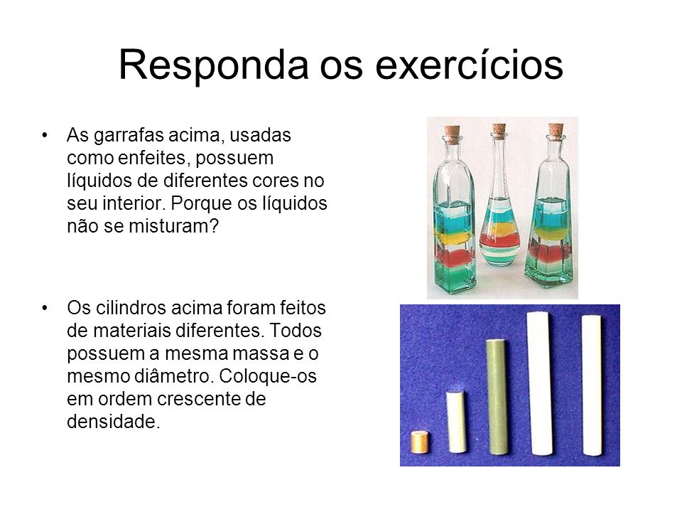 Responda os exercícios