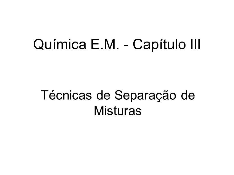 Química E.M. - Capítulo III