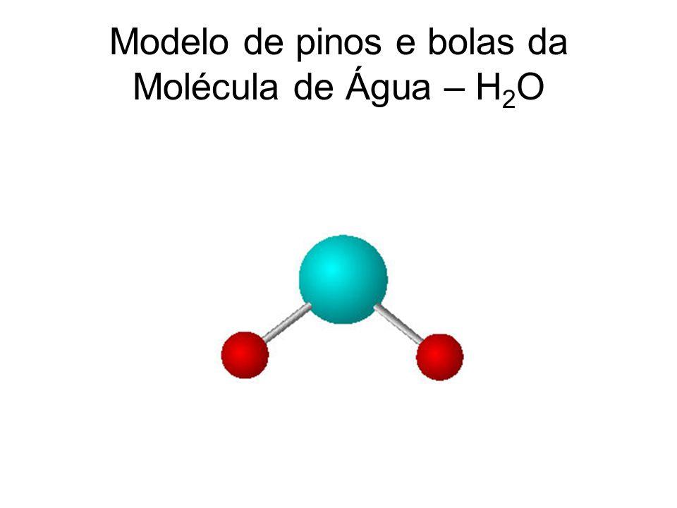 Modelo de pinos e bolas da Molécula de Água – H2O