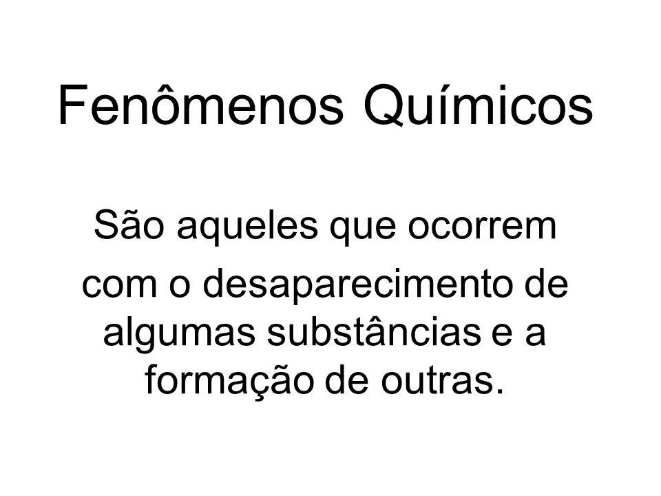 Fenômenos Químicos São aqueles que ocorrem