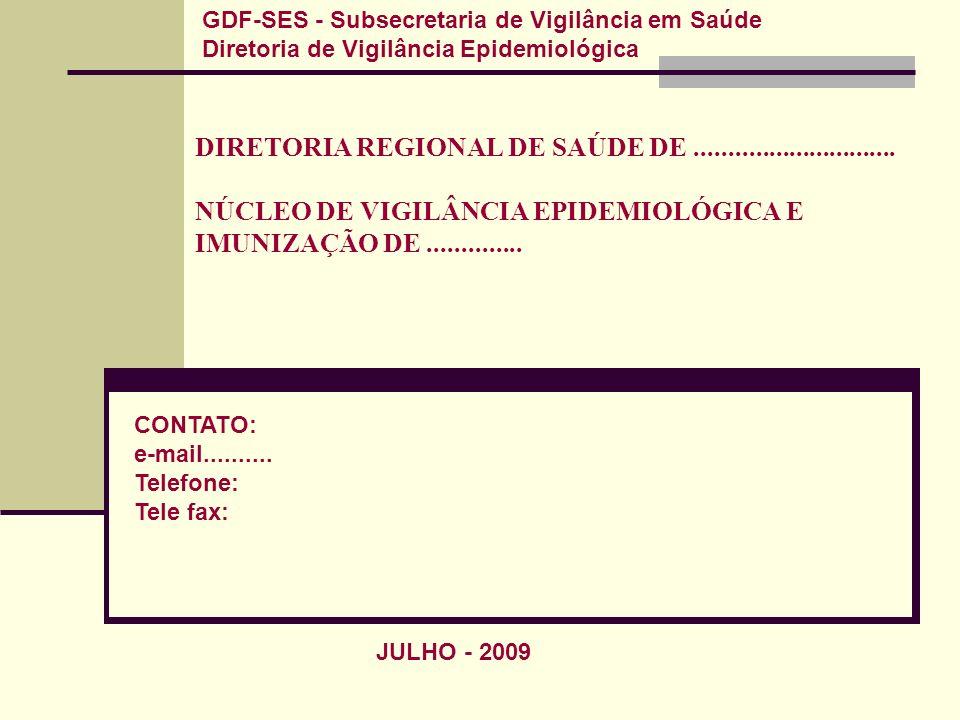 GDF-SES - Subsecretaria de Vigilância em Saúde