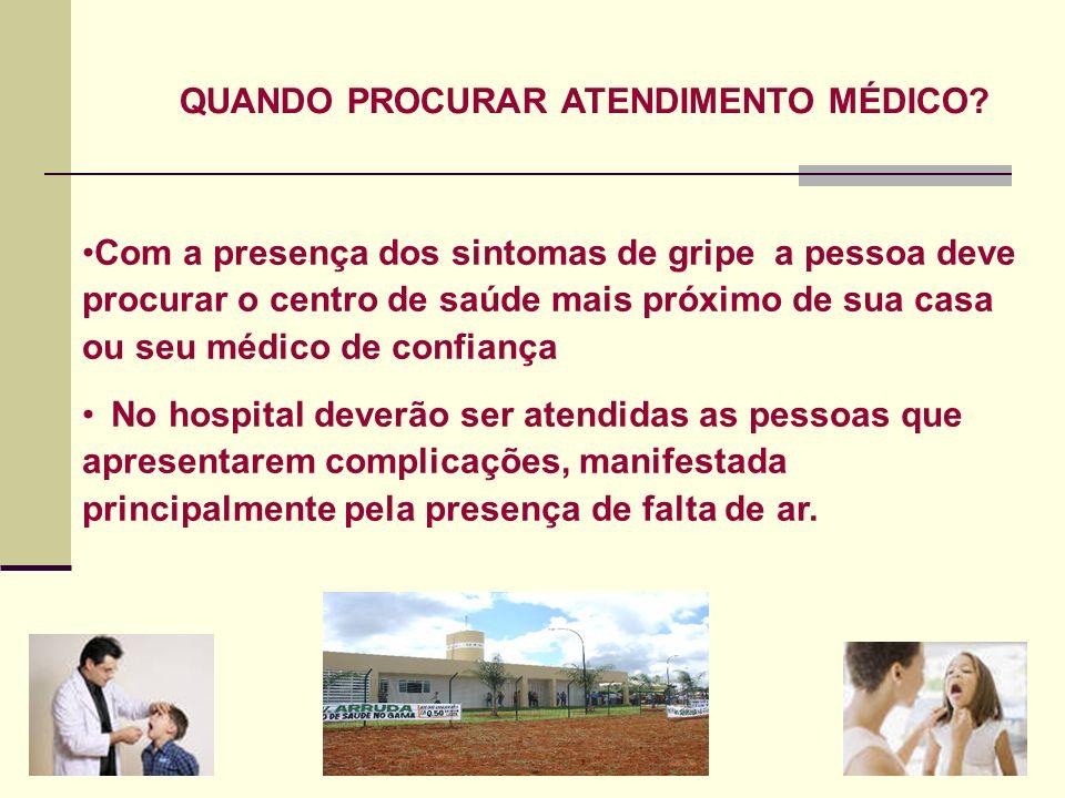 QUANDO PROCURAR ATENDIMENTO MÉDICO