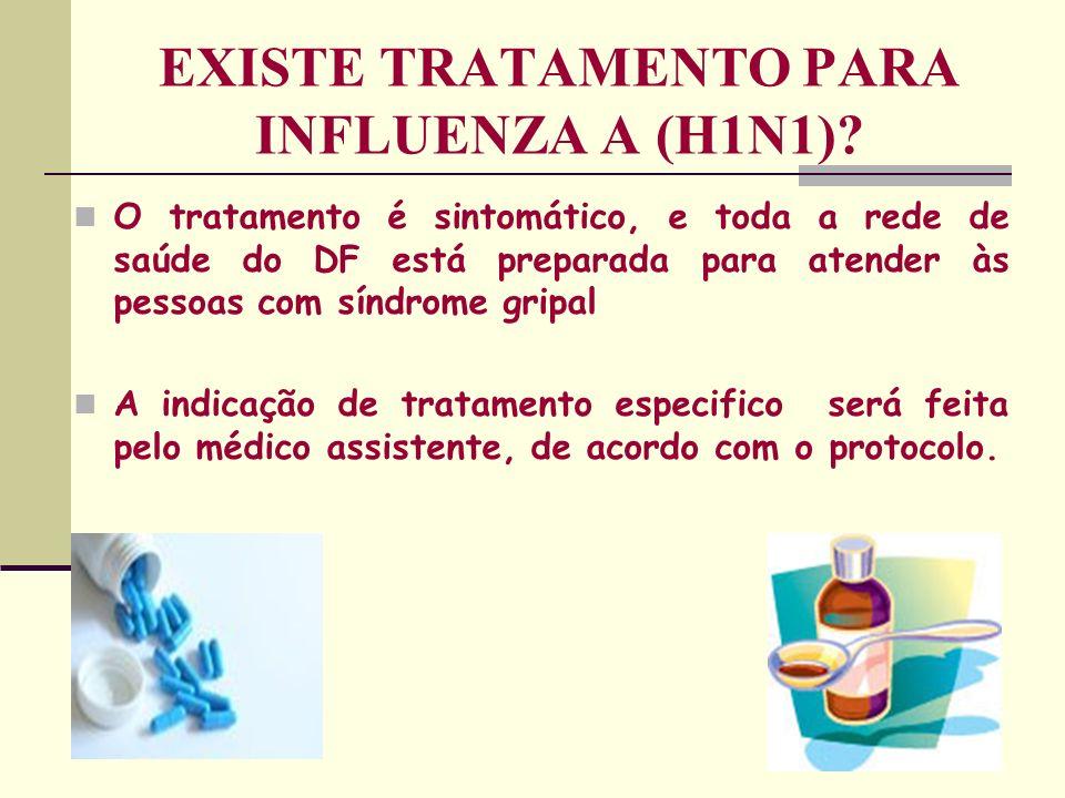 EXISTE TRATAMENTO PARA INFLUENZA A (H1N1)