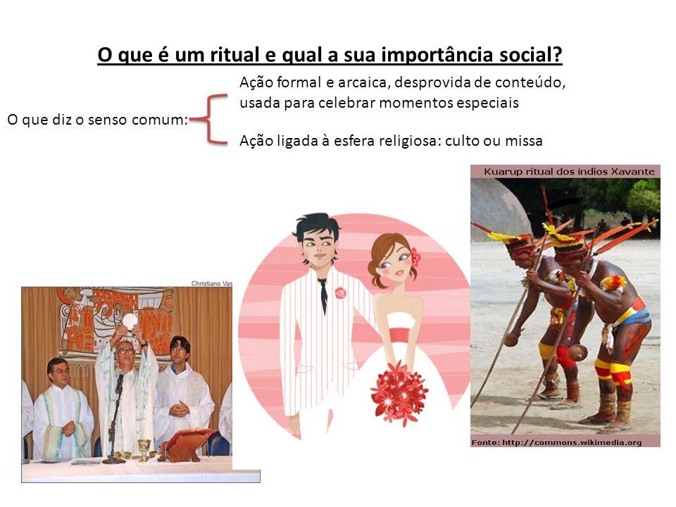 O que é um ritual e qual a sua importância social