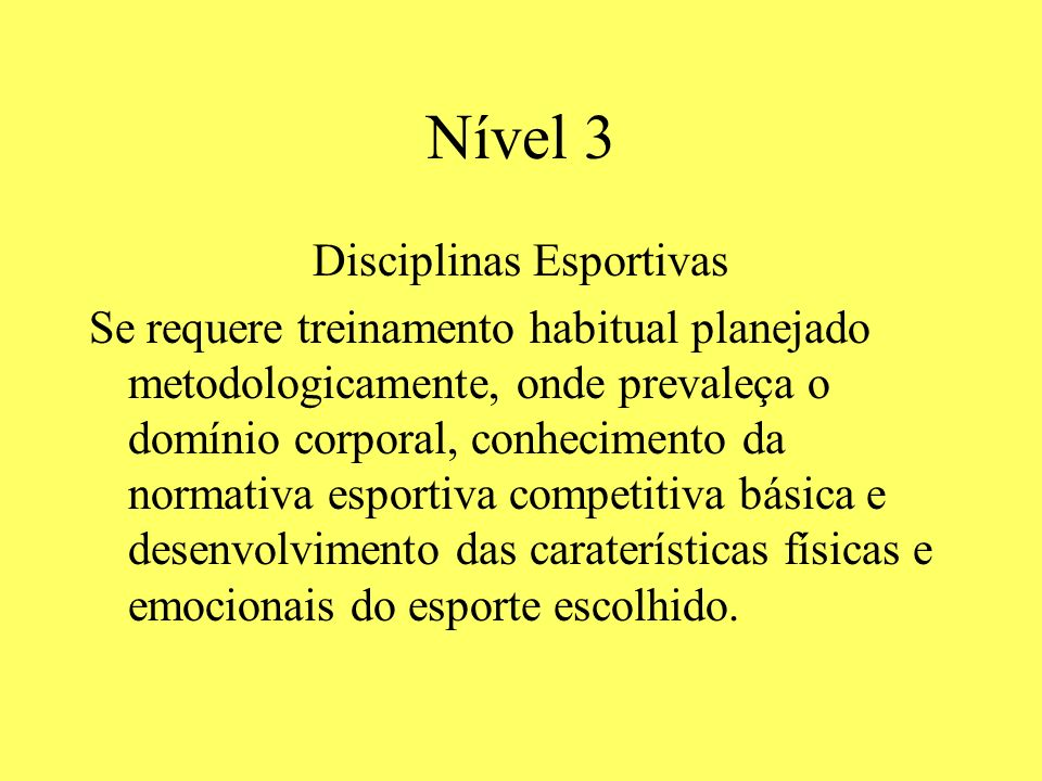 Disciplinas Esportivas