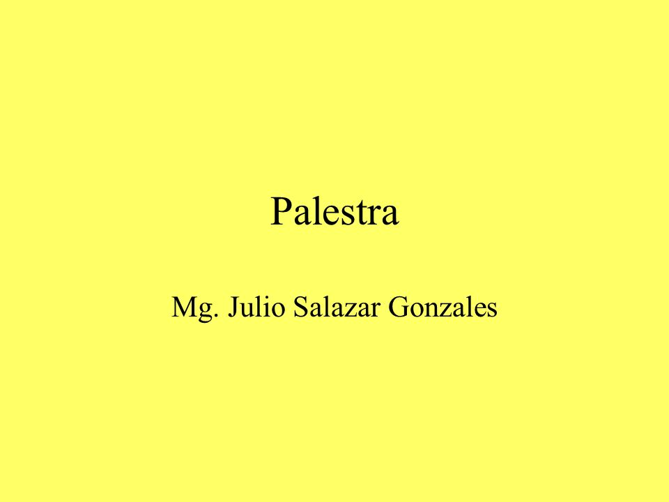 Mg. Julio Salazar Gonzales