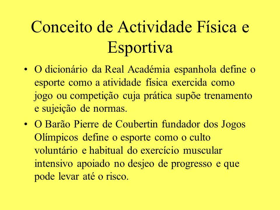 Conceito de Actividade Física e Esportiva