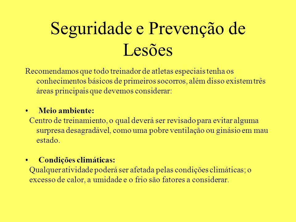 Seguridade e Prevenção de Lesões