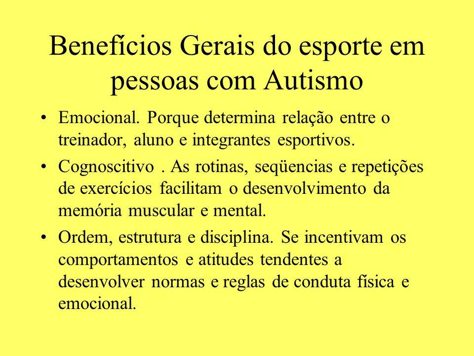Benefícios Gerais do esporte em pessoas com Autismo