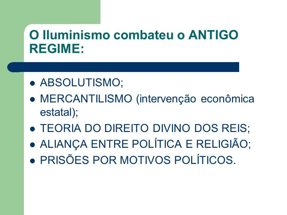 O Iluminismo combateu o ANTIGO REGIME:
