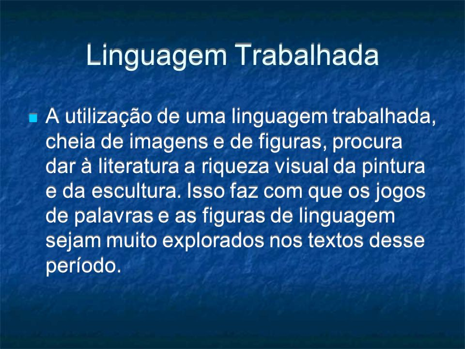 Linguagem Trabalhada