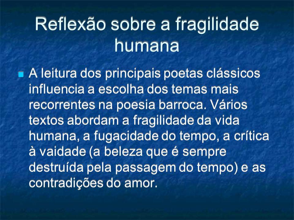 Reflexão sobre a fragilidade humana