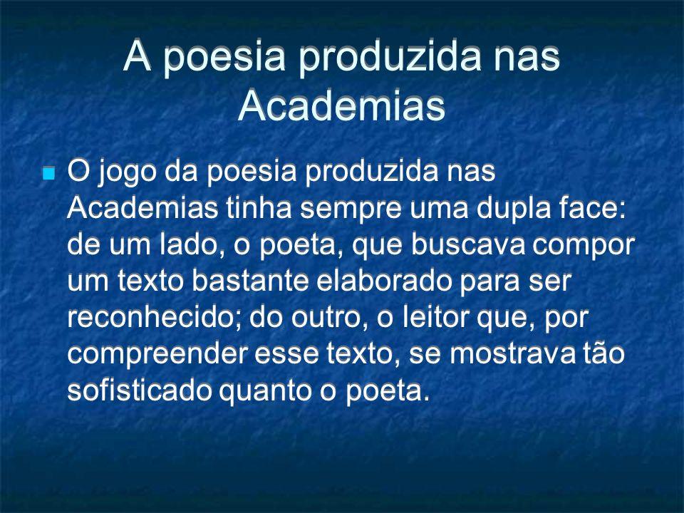A poesia produzida nas Academias