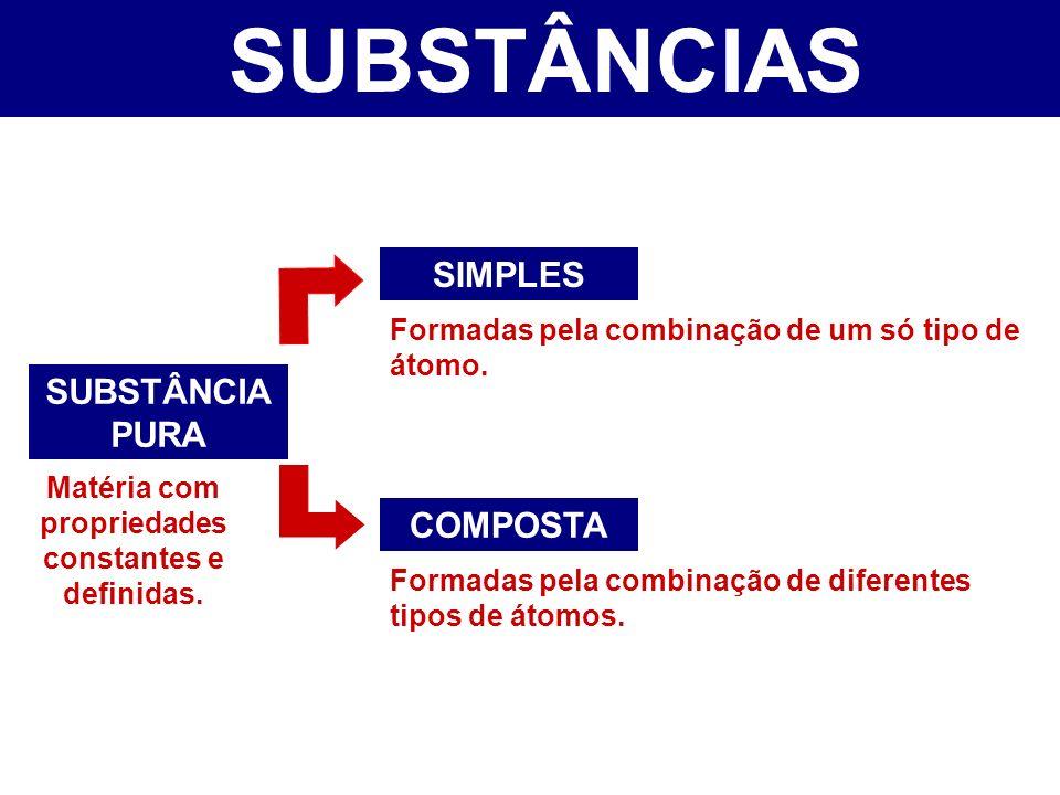 Matéria com propriedades constantes e definidas.