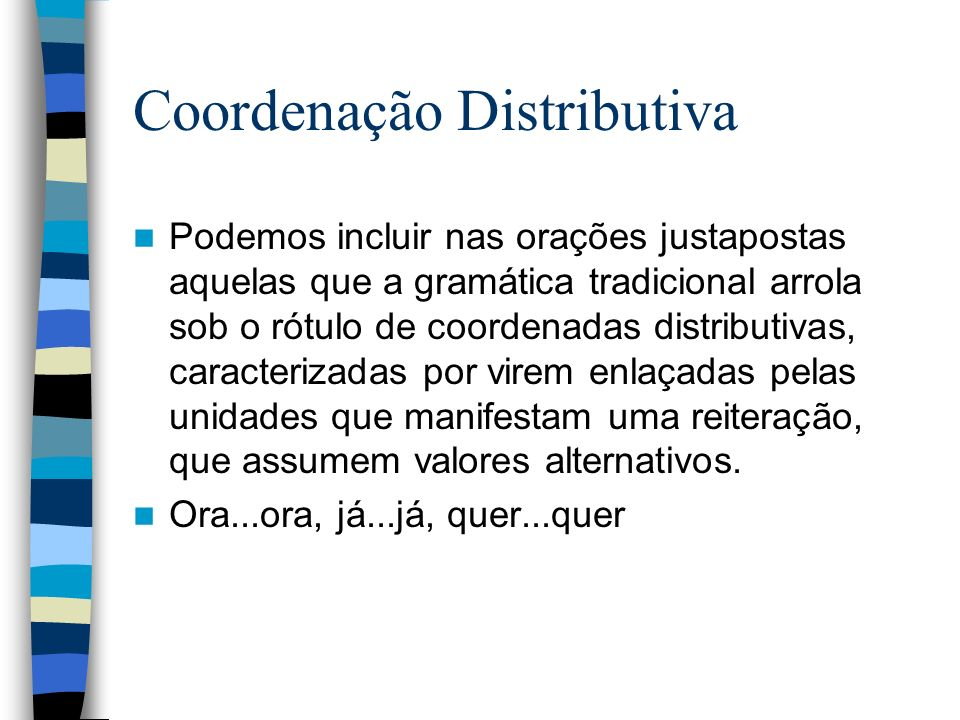 Coordenação Distributiva