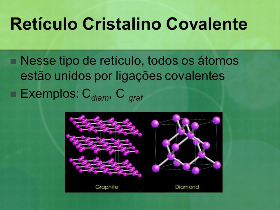 Retículo Cristalino Covalente