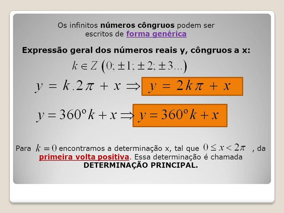 Os infinitos números côngruos podem ser escritos de forma genérica