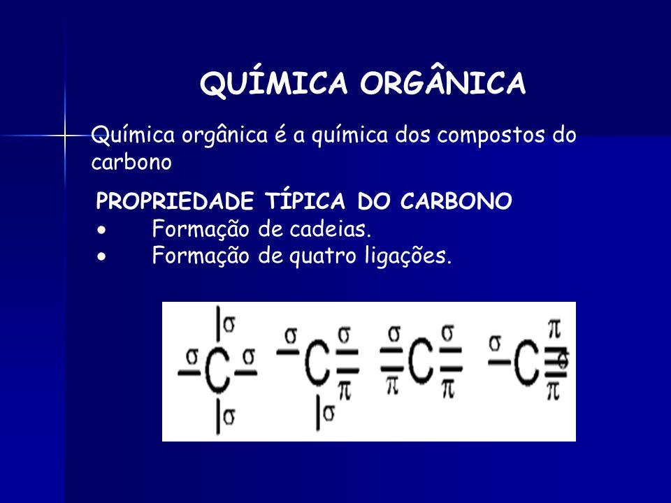 QUÍMICA ORGÂNICA Química orgânica é a química dos compostos do carbono