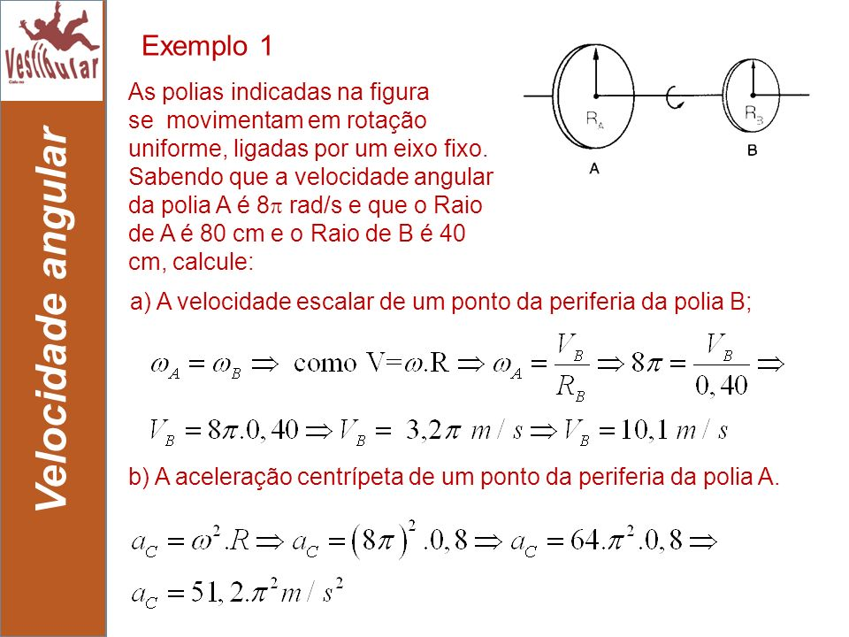 Velocidade angular Exemplo 1