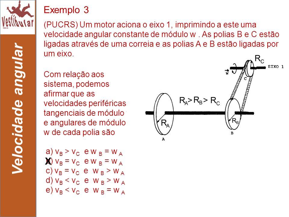Velocidade angular Exemplo 3 X
