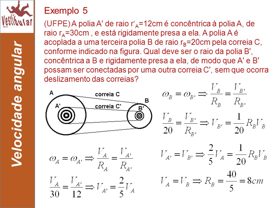Velocidade angular Exemplo 5