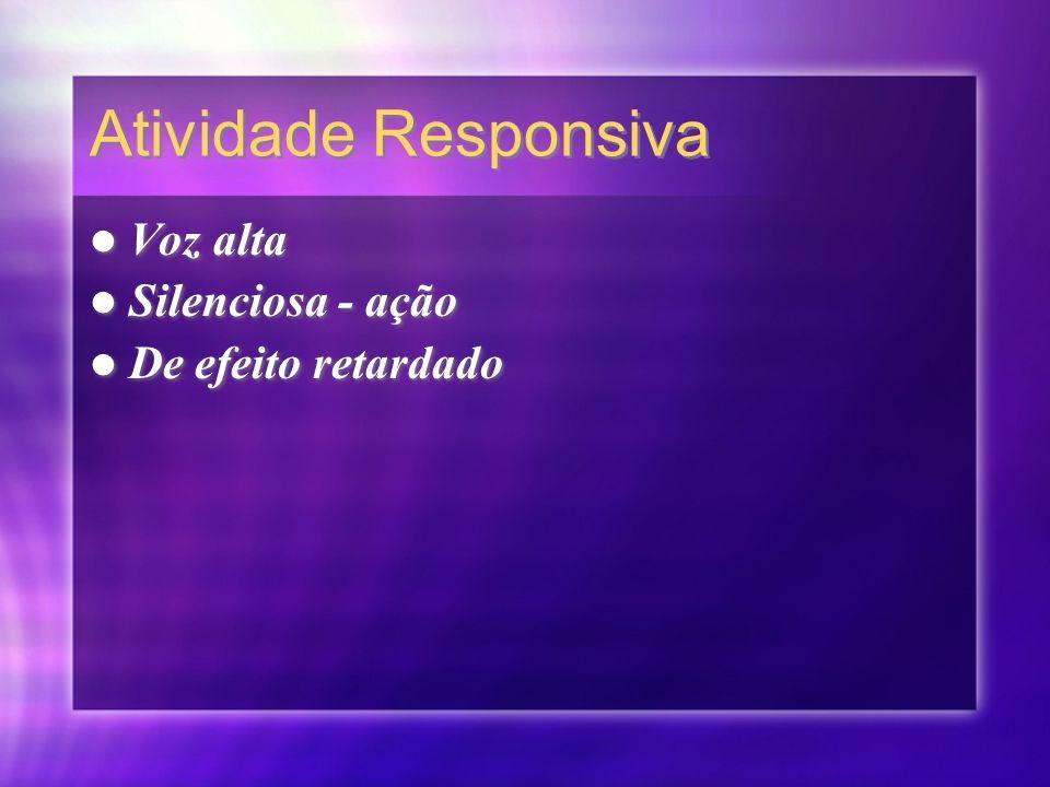 Atividade Responsiva Voz alta Silenciosa - ação De efeito retardado