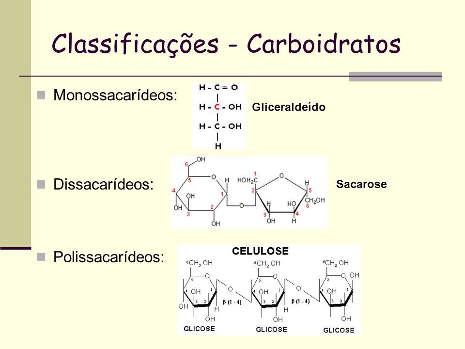 Classificações - Carboidratos