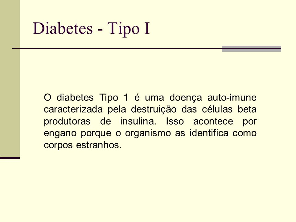 Diabetes - Tipo I