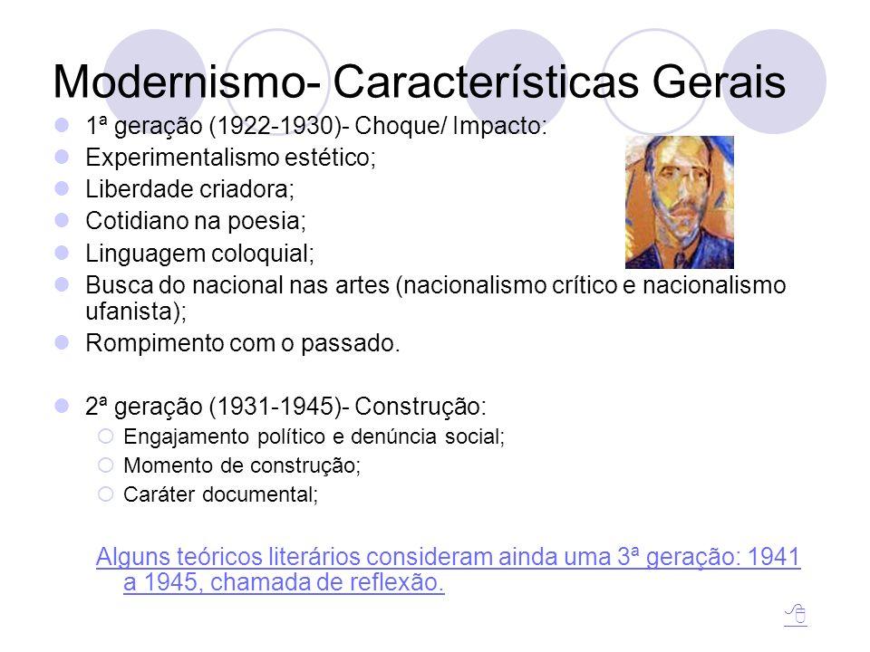 Modernismo- Características Gerais