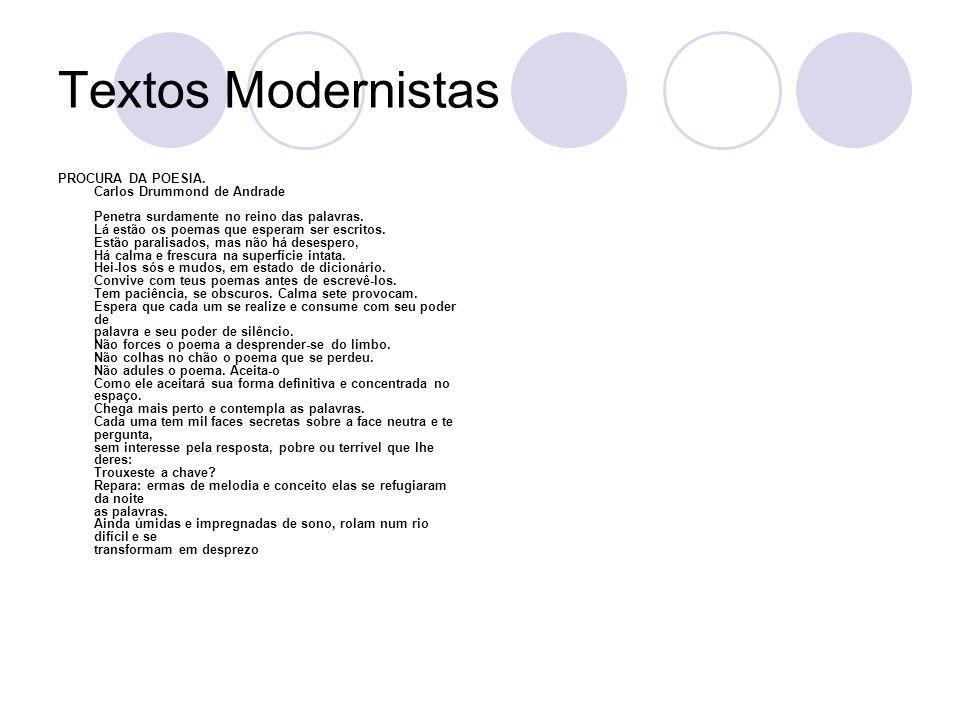 Textos Modernistas