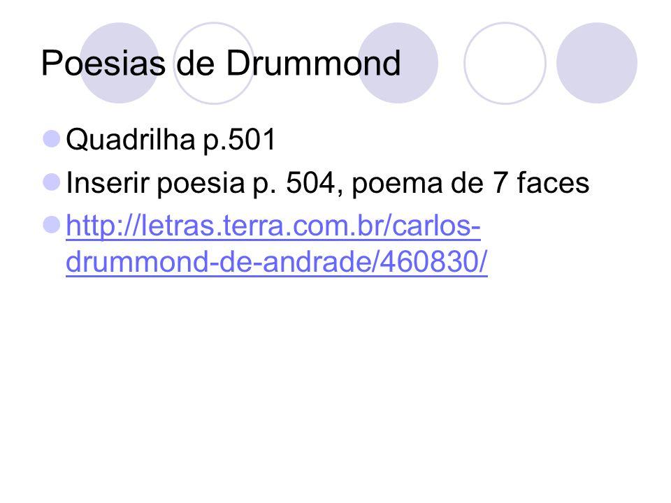 Poesias de Drummond Quadrilha p.501