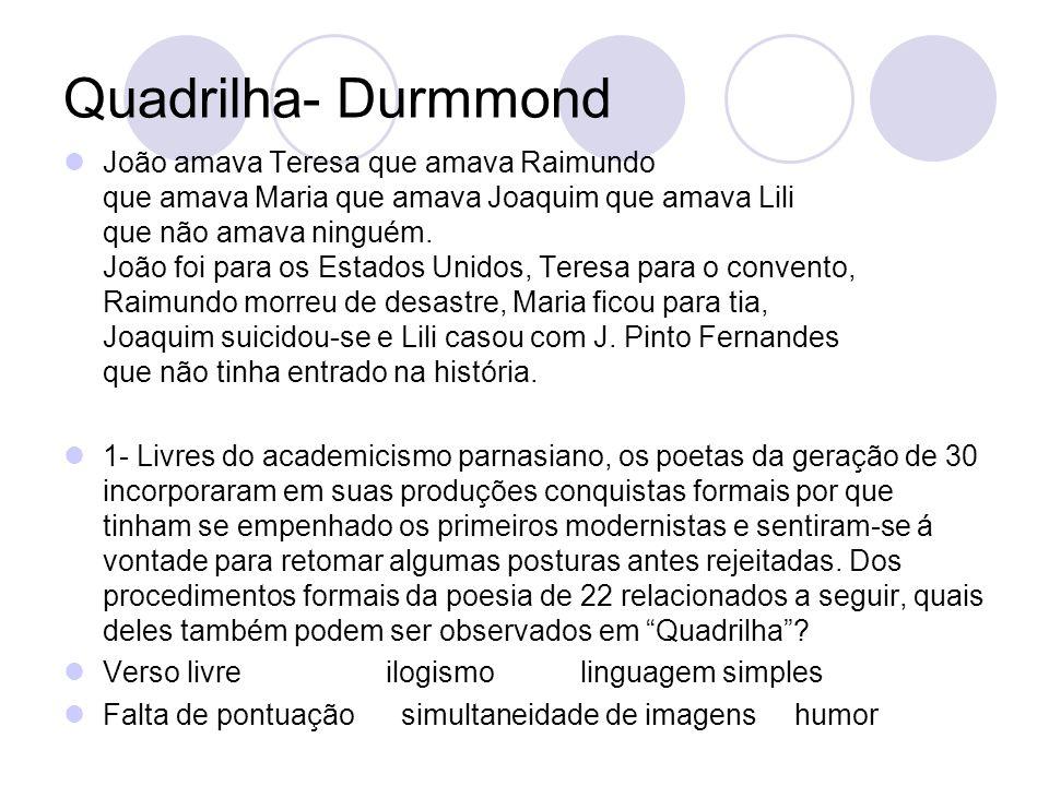 Quadrilha- Durmmond