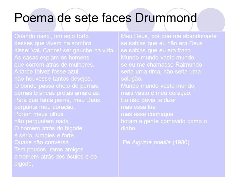Poema de sete faces Drummond