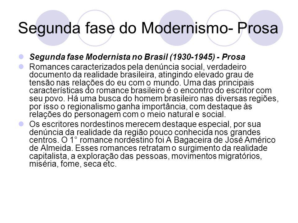 Segunda fase do Modernismo- Prosa
