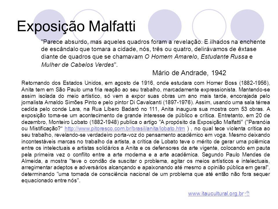 Exposição Malfatti Mário de Andrade, 1942
