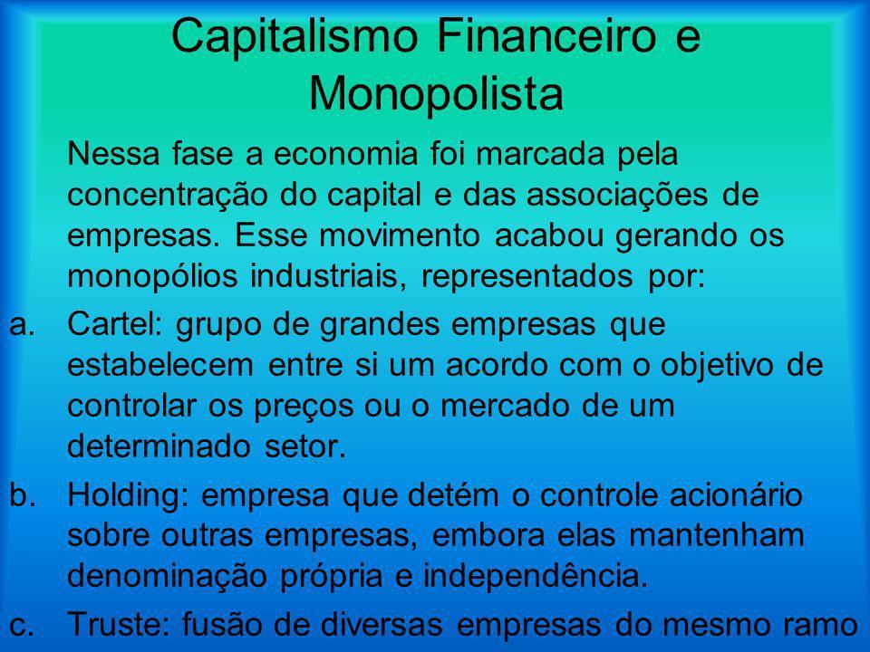 Capitalismo Financeiro e Monopolista