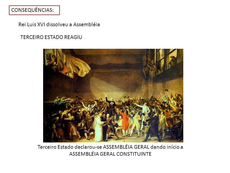 Rei Luis XVI dissolveu a Assembléia