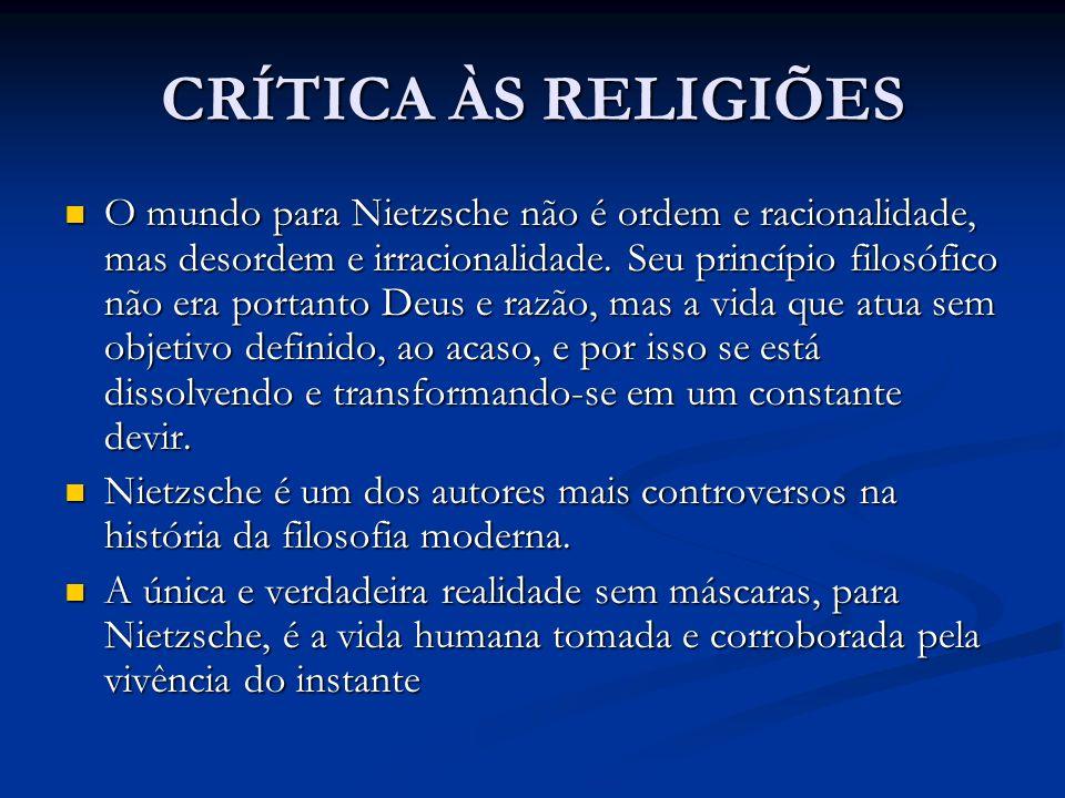 CRÍTICA ÀS RELIGIÕES