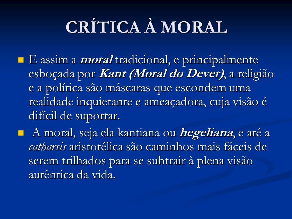 CRÍTICA À MORAL