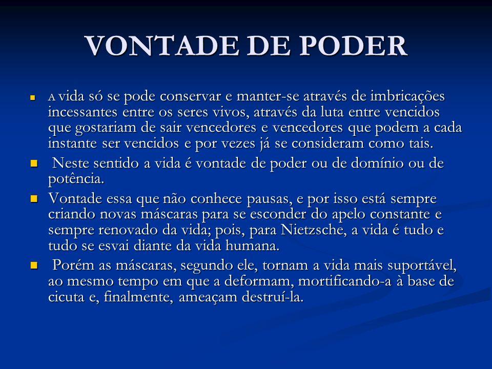 VONTADE DE PODER