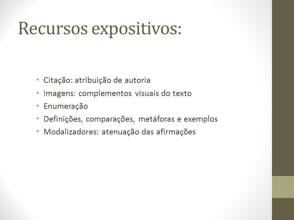 Recursos expositivos: