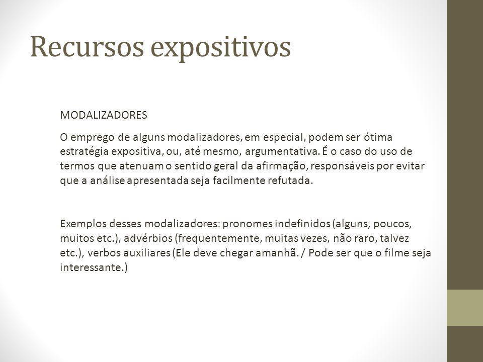 Recursos expositivos MODALIZADORES