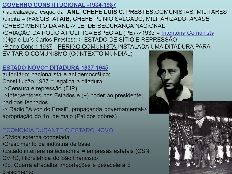 GOVERNO CONSTITUCIONAL -1934-1937