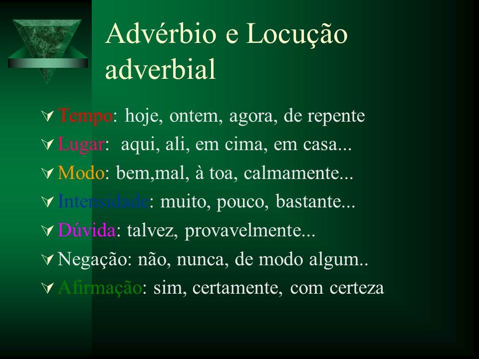 Advérbio e Locução adverbial
